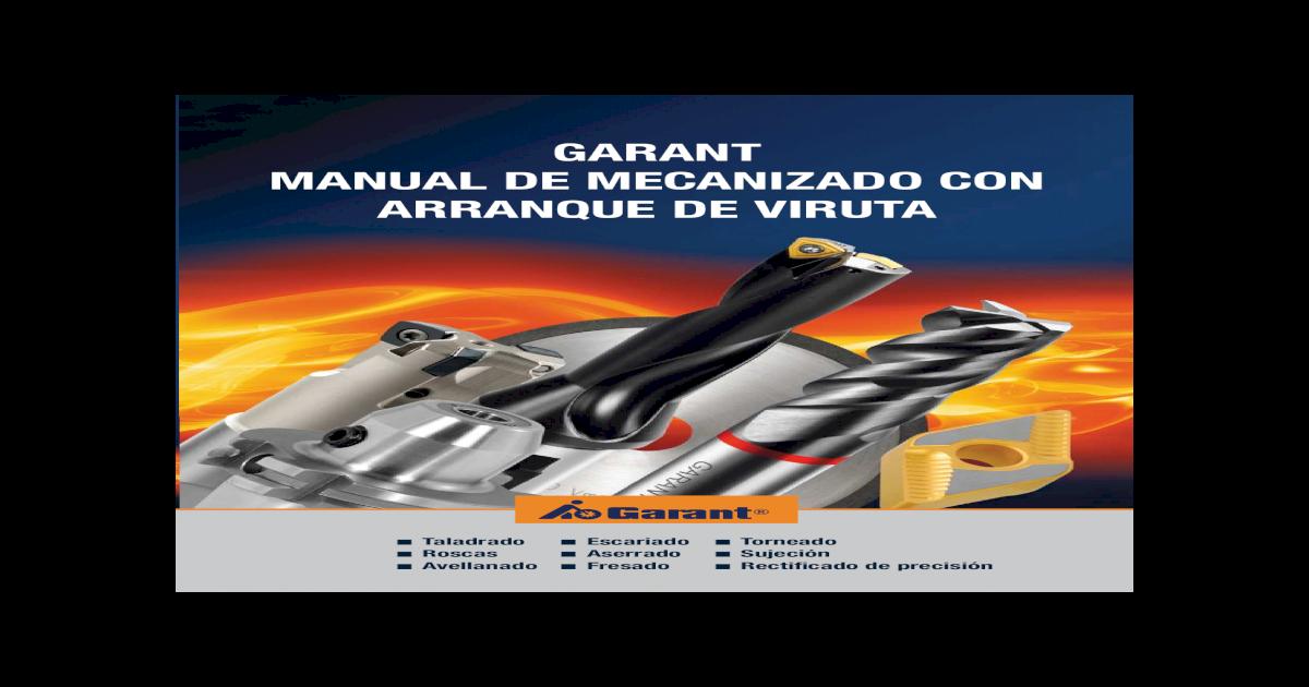 a4bf71abdba1 Manual de Mecanizado GARANT1 -  PDF Document