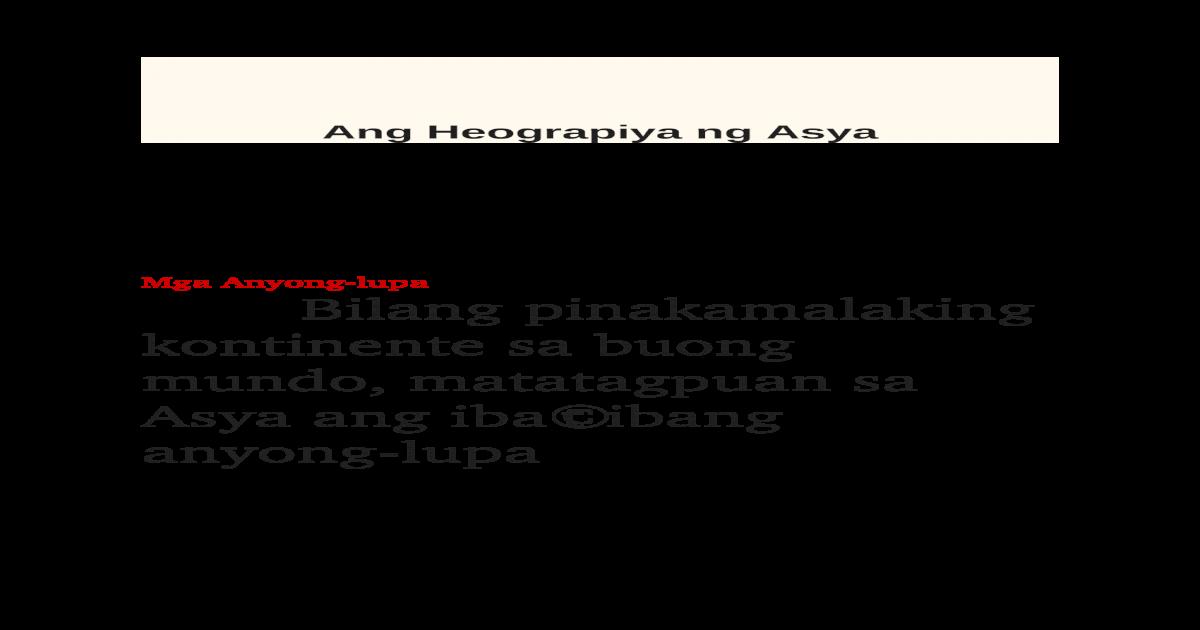 Ang Kontinente Sa Asya Anti Feixista