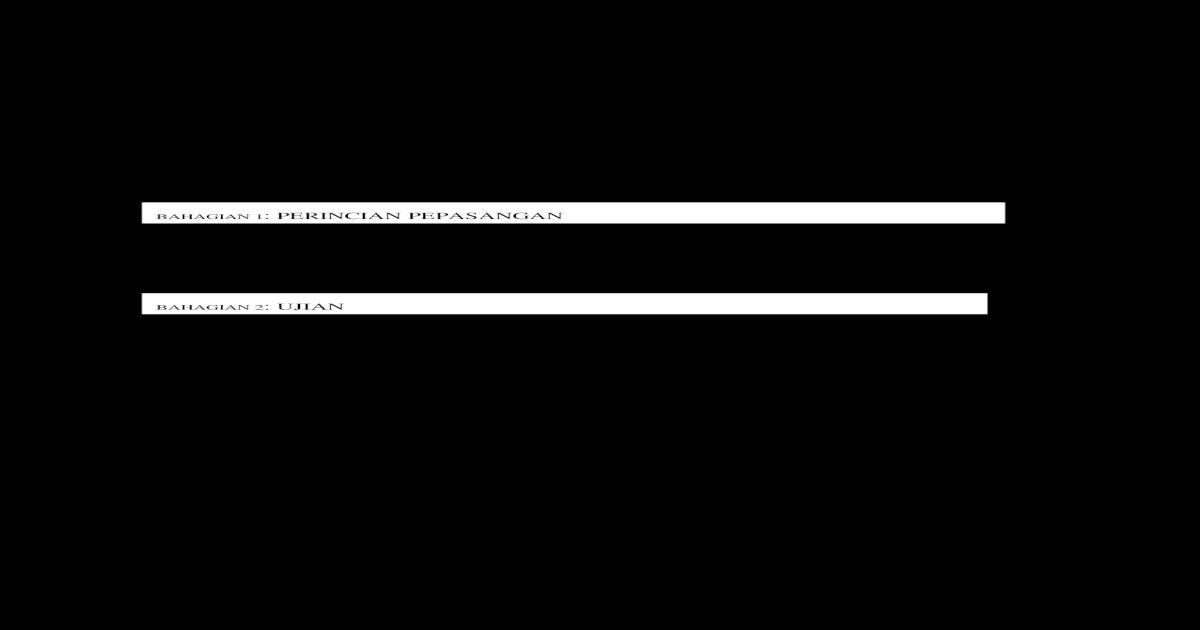 Borang H Pengujian Pindaan 250309 Pdf Document