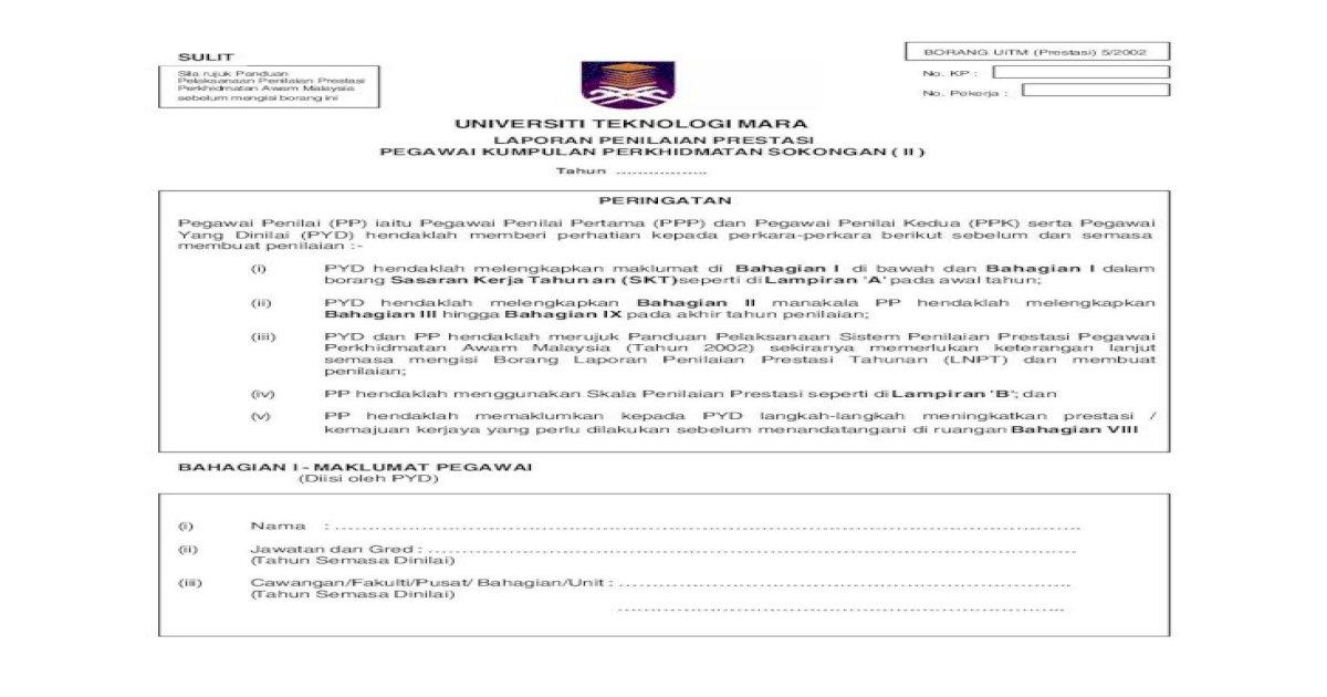 Universiti Teknologi Mara Tan Sokongan Ii Urusetia Ppsm